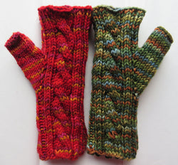 Pattern  503 - Fingerless Cable Mittens - Sport/Light DK/DK