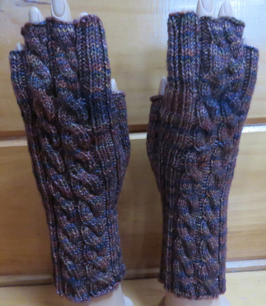 Pattern  550 - Topless Finger Mittens - Fingering