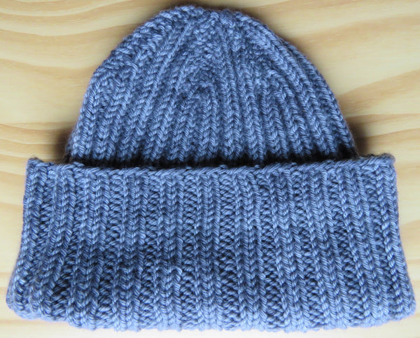Pattern  681 - Traditional Ribbed Watchman/Woman Cap - Worsted