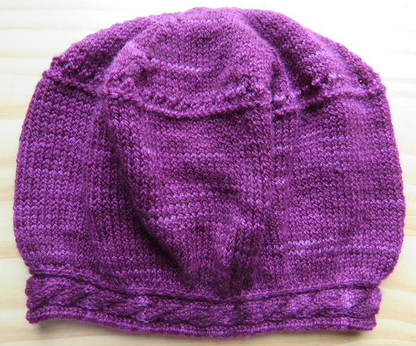 Pattern 141 Cable Brim Hat - Fingering