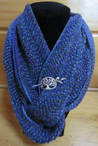 Cowl - Double Twist Mobius Cowl - Fingering - 156