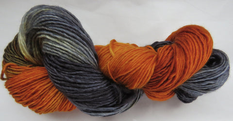 Merino DK Single Ply - Amber with Charcoal