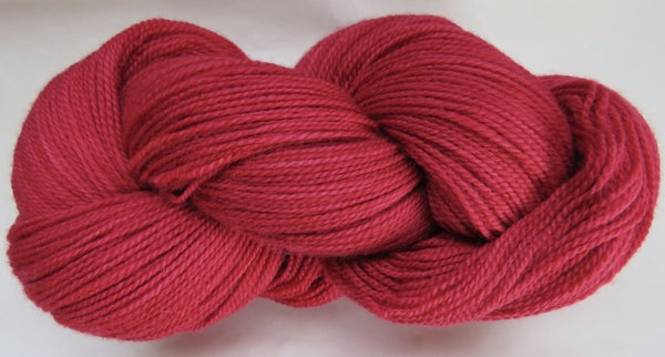 Fine Organic Merino - Fingering Weight -  Red #R-3