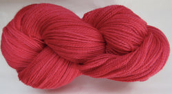 Fine Organic Merino - Fingering Weight -  Red #1-X
