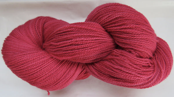 Fine Organic Merino - Fingering Weight -  Red #1-C