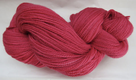 Fine Organic Merino - Fingering Weight -  Red #O-1