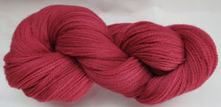Fine Organic Merino - Fingering Weight -  Red #1-O