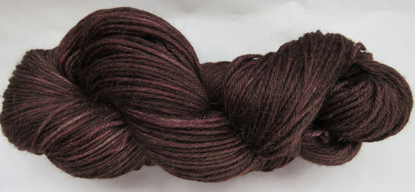 4 ply - Baby Alpaca & Tussah Silk - Brown #BRN-1- Light DK Weight