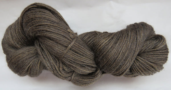4 ply - Baby Alpaca & Tussah Silk - Brown #BRN-2 - Light DK Weight