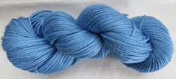 4 ply - Baby Alpaca & Tussah Silk - Blue #16-7 - Light DK Weight