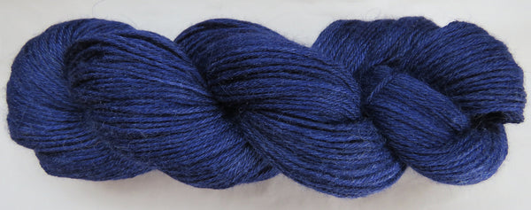 4 ply - Baby Alpaca & Tussah Silk - Blue #B-4 Light DK Weight