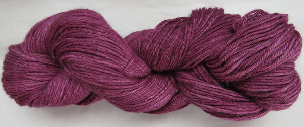 4 ply - Baby Alpaca & Tussah Silk - Wine #16-1 - Light DK Weight