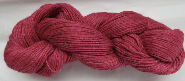 4 ply - Baby Alpaca & Tussah Silk - Red #R-1 - Light DK Weight
