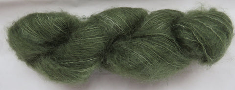 Brushed Kid Mohair - Dark Sage #S-A