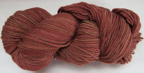 Polwarth Wool - Sport Weight - Red Brown #PO-9