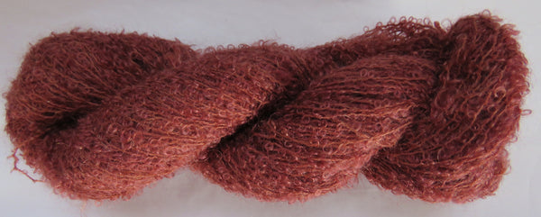 Kid Mohair Boucle - Small Loop - Red Brown #KIDB-16