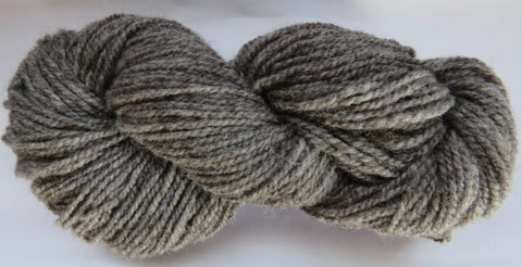 Romney Lambs Wool - Worsted Weight - Dark Grey Natural #RO-1