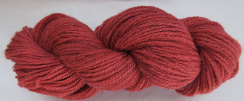 Romney Lambs Wool - Worsted Weight - Red #RO-20