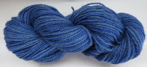 Romney Lambs Wool - Worsted Weight - Blue #RO-28