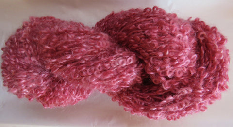 Large Boucle Mohair - Bulky Weight - Rose #LBM-12