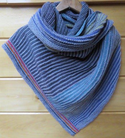 Shawl - Half Slice Shawl in Fingering Weight - 1004