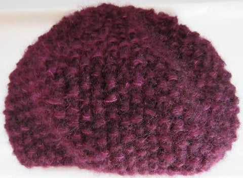Hat - Moss Stitch Hat in Brushed Kid Mohair - 035