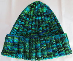 Pattern  681 - Traditional Ribbed Watchman/Woman Cap - DK