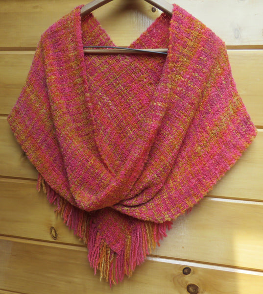 MOBIUS SHAWL - Indian Summer (Finished Product)