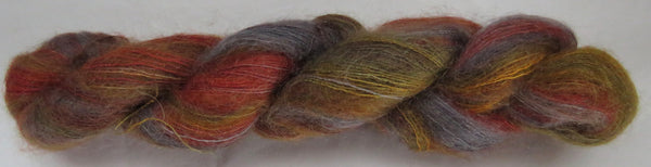 Brushed Kid Mohair/Silk - Red Fox - Gold