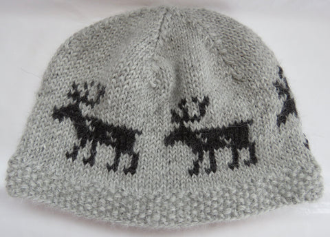 Hat - Norwegian Reindeer Hat in Super Fine Alpaca - 1011A