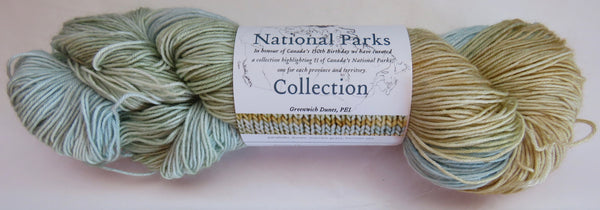 Fleece Artist National Parks Collection - Festival Socks - Greenwich Dunes, PEI