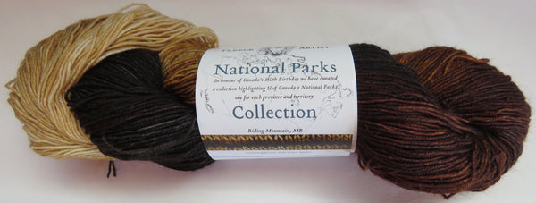 Fleece Artist National Parks Collection - Festival Socks - Riding Mountain, MB
