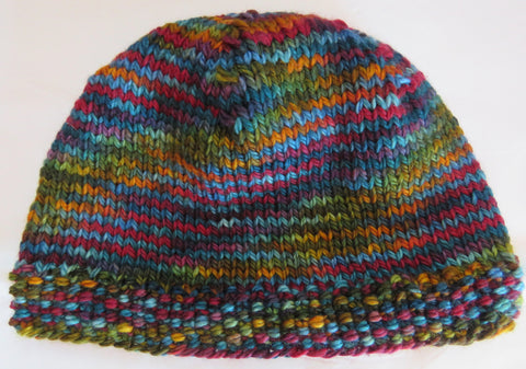 Hat - Plain Hat in Bulky weight yarn - SW Merino - Bulky - 1810