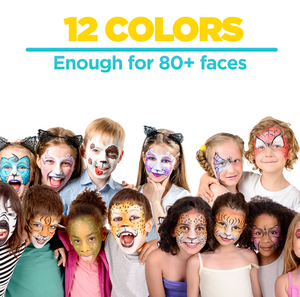 12 Color Value Party Pack,  Face & Body Paint Set