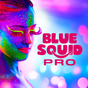 Blue Squid Pro 6x10g Neon Color Palette Professional Face & Body Paint