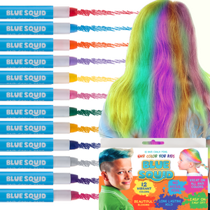Hair Chalk Crayons, 12 Twist Up Crayons