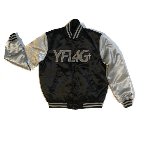 Bomber Jacket (Black/Grey)
