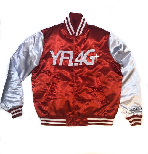 Bomber Jacket (Red/White)
