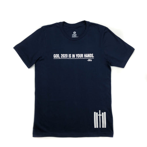 In Your Hands Tee - Navy