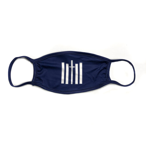 Vertical Face Mask - Navy