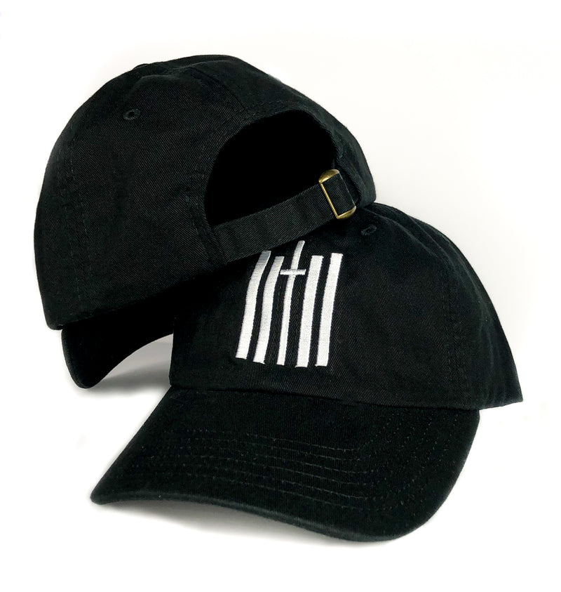 Vertical Dad Hat - Black