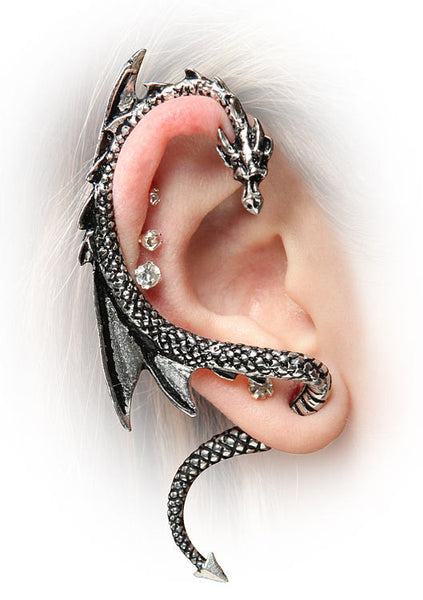 Left Ear Dragon Earring Wrap Cuff
