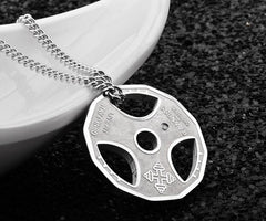 Train Hard or Go Home Weight Plate Pendant