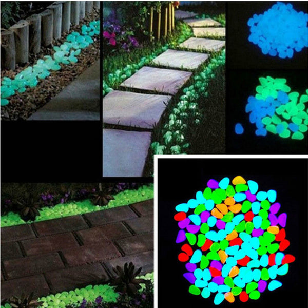 100pcs Garden Ornaments Stone Glow In The Dark