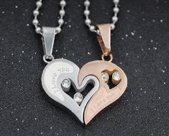 Entwined Heart Necklaces for Couples