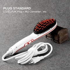 Fast Electric Hair Straightener Brush