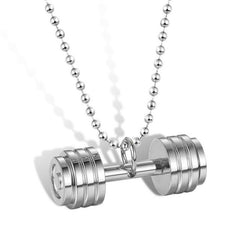 Barbell 3 Colors Titanium Necklace for Men