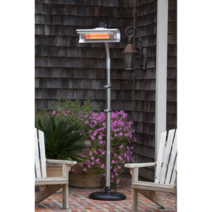 FIRE SENSE Stainless Steel Telescoping Offset Pole Mounted Infrared Patio Heater - Fireplace Features