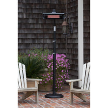 FIRE SENSE Black Powder Coated Steel Telescoping Offset Pole Mounted Infrared Patio Heater - Fireplace Features