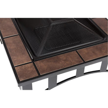 FIRE SENSE Tuscan Tile Mission Style Square Fire Pit - Fireplace Features